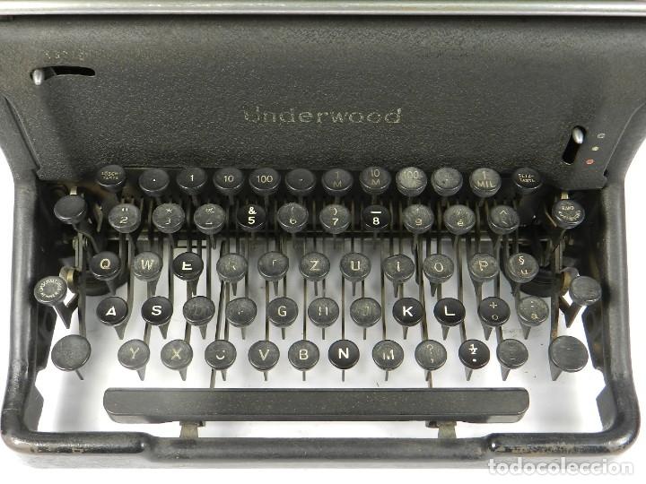Antigüedades: MAQUINA DE ESCRIBIR UNDERWOOOD STANDARD AÑO 1940 TYPEWRITER SCRHEIBMASCNINE - Foto 3 - 181496931