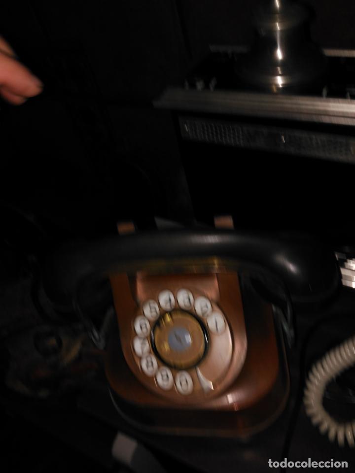 Teléfonos: PRECIOSO Y ANTIGUO TELÉFONO BELGA RTT56 EN METAL ASA EN LATÓN AURICULARES BAQUELITA FUNCIONANDO - Foto 10 - 167032792