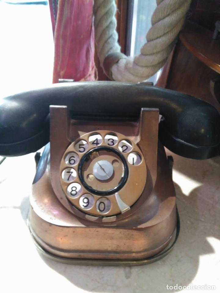 Teléfonos: PRECIOSO Y ANTIGUO TELÉFONO BELGA RTT56 EN METAL ASA EN LATÓN AURICULARES BAQUELITA FUNCIONANDO - Foto 11 - 167032792