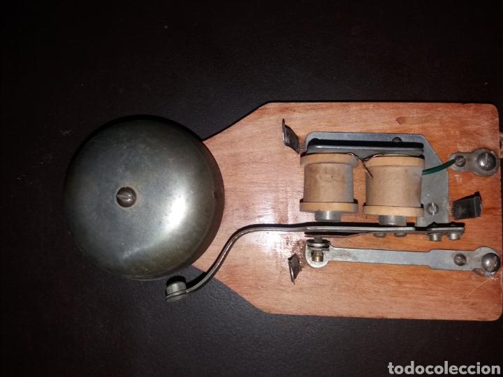 Teléfonos: Timbre en caja de madera. - Foto 3 - 181505815