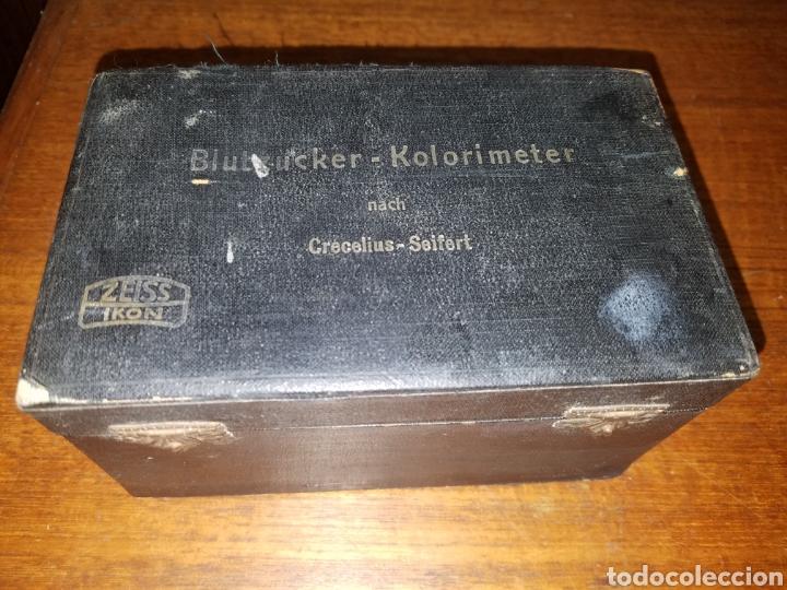 Antigüedades: Colorimetro Zeiss Ikon Kolorimeter Años 50 en su caja e instrucciones - Foto 5 - 181539056