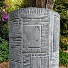 Antigüedades: ENORME PLACA INDUSTRIAL DE IMPRENTA DE PERIÓDICO. Lote 181552761