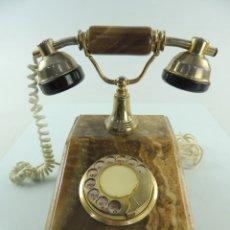 Teléfonos: VINTAGE TELÉFONO ANTIGUO ONIX O MÁRMOL Y METAL. Lote 181569370