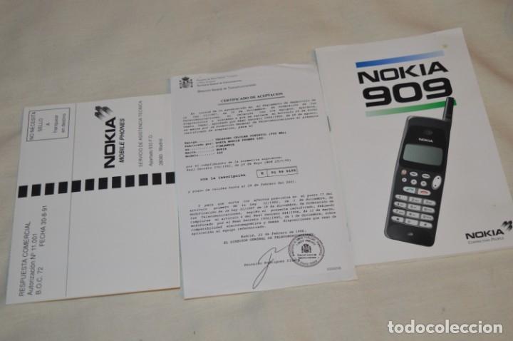 Teléfonos: VINTAGE / NOS - ¡Increible! - Teléfono NOKIA 909 - Año 1996 ¡Perfecto estado físico, nuevo, sin uso! - Foto 16 - 181613855