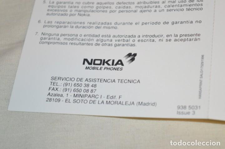 Teléfonos: VINTAGE / NOS - ¡Increible! - Teléfono NOKIA 909 - Año 1996 ¡Perfecto estado físico, nuevo, sin uso! - Foto 21 - 181613855
