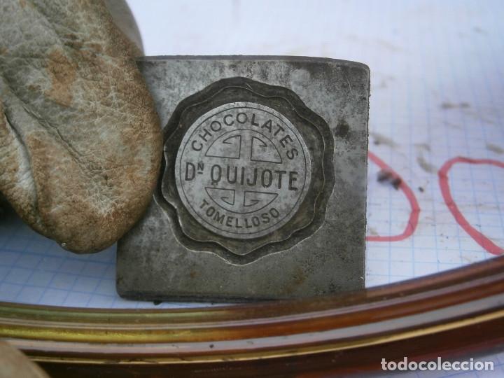 MOLDE.ORIJINAL,DE.,PRINCIPIO,DE,1900,UNICO,EN,TC,CHOCOLATES QUIJOTE¡TOMELLOSO¡¡ (Antigüedades - Técnicas - Herramientas Profesionales - Imprenta)
