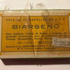 Antigüedades: ANTIGUO MEDICAMENTO CAJA DE MEDICINA BIARSENO CAJA SIN ABRIR. Lote 181782886