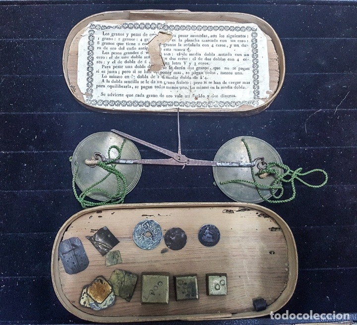 Antigüedades: BALANZA MONETARIA APROX. S.XVIII - Foto 2 - 181938718