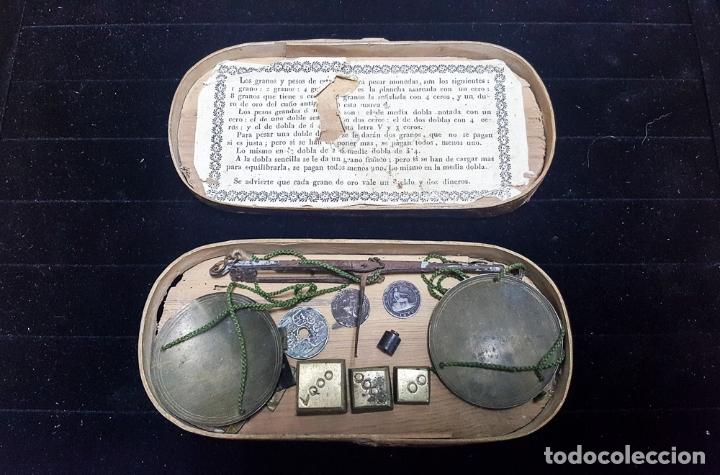 BALANZA MONETARIA APROX. S.XVIII (Antigüedades - Técnicas - Medidas de Peso - Balanzas Antiguas)
