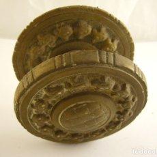 Antigüedades: PRECIOSO POMO DE PUERTA ANTIGUO DE HIERRO. 9 CM DE DIAMETRO.. Lote 181938982