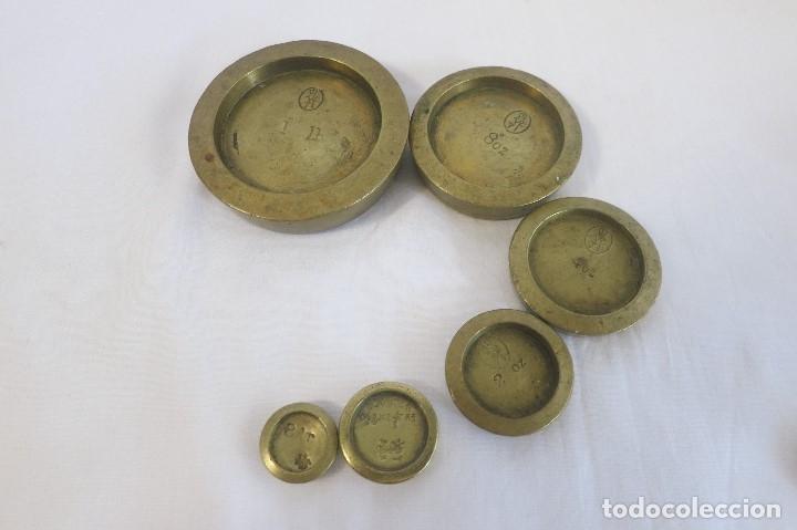Antigüedades: pila de ponderales ingles victorianos 1879-1901 - Foto 3 - 182014417