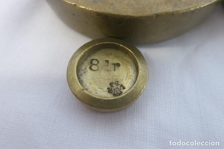 Antigüedades: pila de ponderales ingles victorianos 1879-1901 - Foto 5 - 182014417