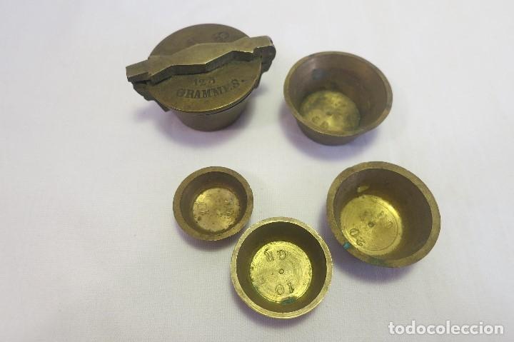 Antigüedades: vaso anidado metrico A 1870 España - Foto 5 - 182022351