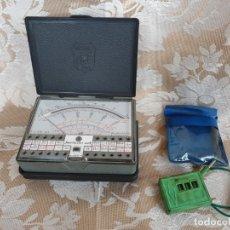 Antiquités: LOTE ANTIGUO SUPERTESTER ICE 680R + COMPROBADOR VOLTAJE. LOS DOS FUNCIONANDO Y COMPLETOS. Lote 182151592