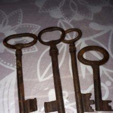 Antigüedades: LOTE DE 4 LLAVES ANTIGUOS. Lote 182217293