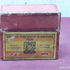 Antigüedades: VISOR ESTEREOSCOPICO UNIS. FRANCE. EXPOSICION UNIVERSAL BARCELONA 1929. Lote 182236460