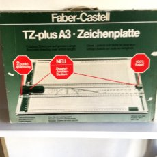 Antigüedades: TABLA DIBUJO TÉCNICO TZ PLUS A3 FABER CASTELL MADE IN GERMANY 1083N REGALO REGLA TRIANGULAR MADERA. Lote 182258005