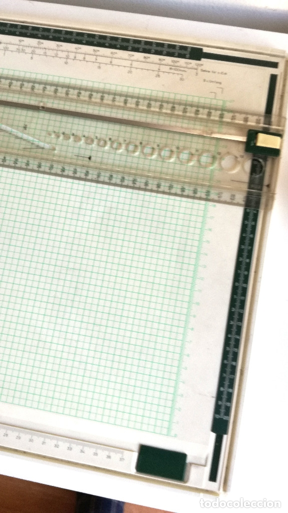 Antigüedades: Tabla dibujo técnico TZ PLUS A3 Faber Castell Made in Germany 1083N regalo regla triangular madera - Foto 3 - 182258005