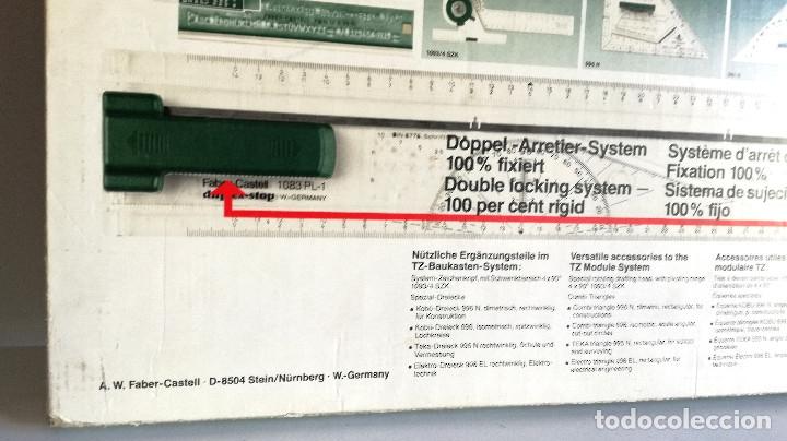 Antigüedades: Tabla dibujo técnico TZ PLUS A3 Faber Castell Made in Germany 1083N regalo regla triangular madera - Foto 4 - 182258005