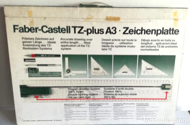 Antigüedades: Tabla dibujo técnico TZ PLUS A3 Faber Castell Made in Germany 1083N regalo regla triangular madera - Foto 5 - 182258005