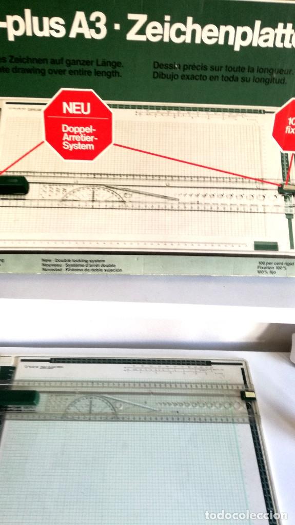 Antigüedades: Tabla dibujo técnico TZ PLUS A3 Faber Castell Made in Germany 1083N regalo regla triangular madera - Foto 7 - 182258005