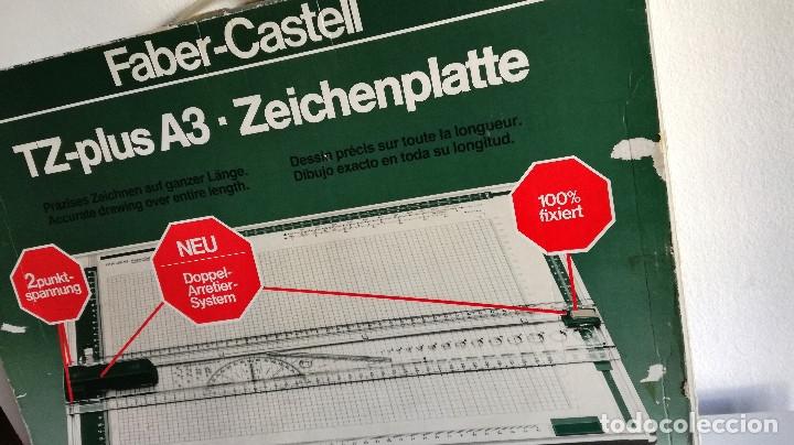 Antigüedades: Tabla dibujo técnico TZ PLUS A3 Faber Castell Made in Germany 1083N regalo regla triangular madera - Foto 9 - 182258005