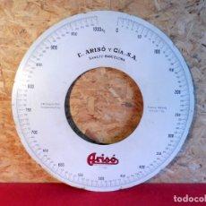 Antigüedades: DISCO DE BALANZA ARISÓ . Lote 182263868