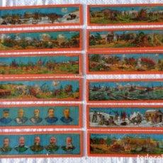 Antigüedades: JUEGO DE 12 CRISTALES DE LINTERNA MAGICA, - MILITAR - ANTIGUO ALEMAN. Lote 182269401