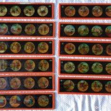 Antigüedades: JUEGO DE 11 CRISTALES DE LINTERNA MAGICA, - G.B. GEBRÜDER BING, NÜRNBERG - ANTIGUO ALEMAN. Lote 182270075