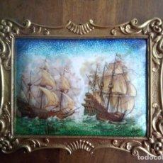Antigüedades: ESMALTE MARINA GALEONES. Lote 182283041