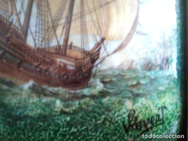 Antigüedades: Esmalte Marina Galeones - Foto 2 - 182283041
