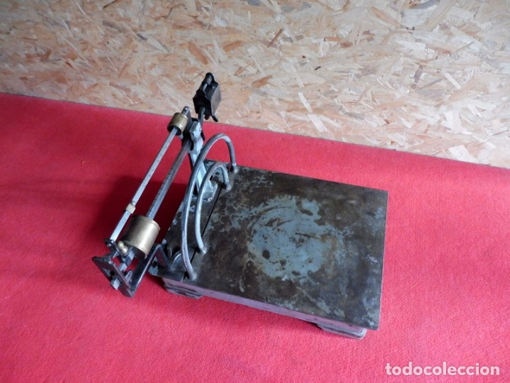 Antigüedades: ANTIGUA BÁSCULA - 75 KG - Foto 11 - 182284811