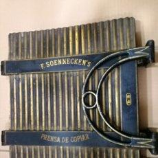 Antigüedades: ANTIGUA PRENSA DE COPIAR F.SOENNECKER'S NR.19 .PRECIOSO Y RARO MODELO .VER FOTOS.30X30CM.. Lote 182309936