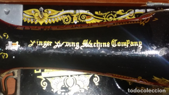 MÁQUINA COSER ORIGINAL SINGER MUY BIEN CONSERVADA. CANILLA DE BELLOTA, FUNCIONANDO (Antigüedades - Técnicas - Máquinas de Coser Antiguas - Singer)