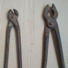 Antigüedades: LOTE 2 TENAZAS ANTIGUAS. Lote 182372576