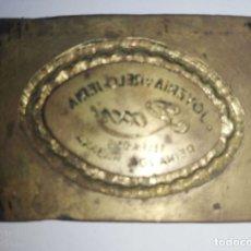 Antigüedades: CUBA. PRE REVOLUCION. LA HABANA. SELLO DE BRONCE. JOYERIA ROXU. MEDIDAS : 3.5 X 4.5 CM APROX.. Lote 182374597