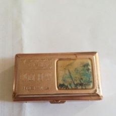 Antigüedades: ANTIGUA CAJA METÁLICA PARA MAQUINILLA DE AFEITAR CHINO. Lote 182382513