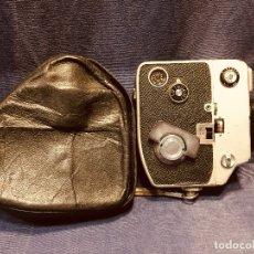 Antigüedades: CAMARA DE CINE A CUERDA CINEMAX 8 EE CON FUNDA. Lote 182399733