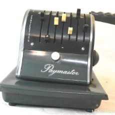 Antigüedades: ANTIGUA Y CURIOSA MAQUINA DE IMPRIMIR CHEQUES THE PAYMASTER CHECKWRITER & PROTECTOR SERIES S 1000. Lote 182410576