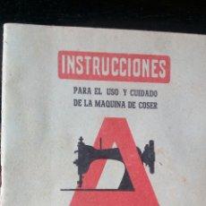 Antigüedades: INSTRUCCIONES ALFA MODELO C /ROTATIVA DOBLE RAPIDA \MAQUINAS DE COSER ALFA EIBAR. Lote 182477710
