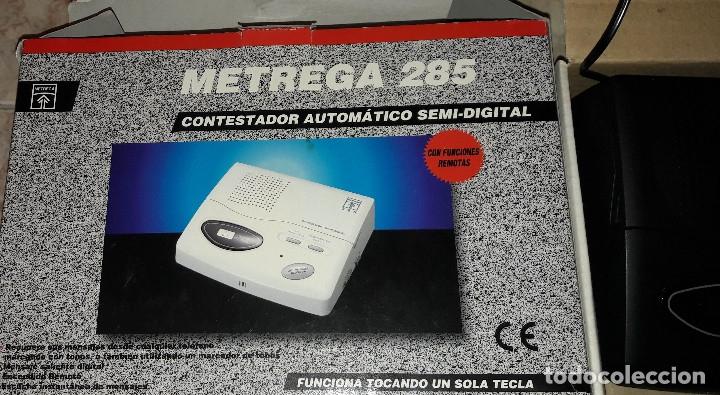 Teléfonos: CONTESTADOR AUTOMÁTICO SEMI-DIGITAL METREGA 285 NUEVO A ESTRENAR EN CAJA Y CON MANUAL - Foto 3 - 182528262
