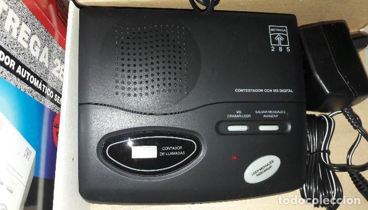 Teléfonos: CONTESTADOR AUTOMÁTICO SEMI-DIGITAL METREGA 285 NUEVO A ESTRENAR EN CAJA Y CON MANUAL - Foto 6 - 182528262