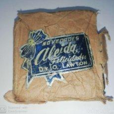 Antigüedades: CUBA. PRE REVOLUCION. SELLO DE BRONCE. NOVEDADES. ALEIDA. MED : 5 X 6 CM APROX.. Lote 182565167