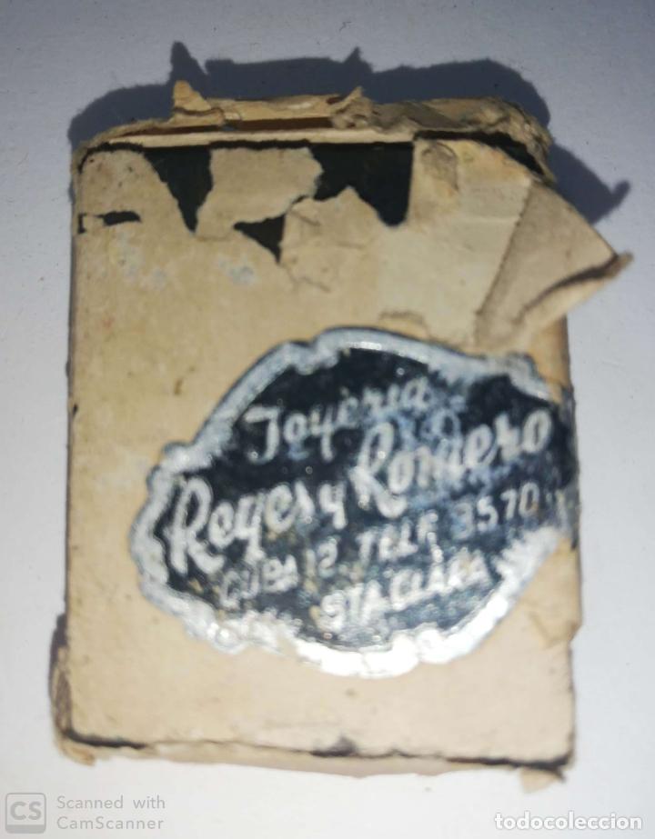 CUBA. PRE REVOLUCION. SELLO DE BRONCE. JOYERIA REYES Y ROMERO. MED : 4.5 X 3.5 CM APROX. (Antigüedades - Técnicas - Herramientas Profesionales - Imprenta)