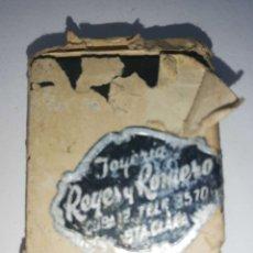 Antigüedades: CUBA. PRE REVOLUCION. SELLO DE BRONCE. JOYERIA REYES Y ROMERO. MED : 4.5 X 3.5 CM APROX.. Lote 182567042