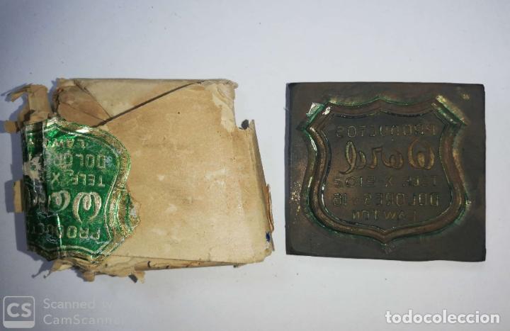 Antigüedades: CUBA. PRE REVOLUCION. SELLO DE BRONCE. PRODUCTOS WORD. MED : 4.5 X 3.5 CM APROX. - Foto 2 - 182567968