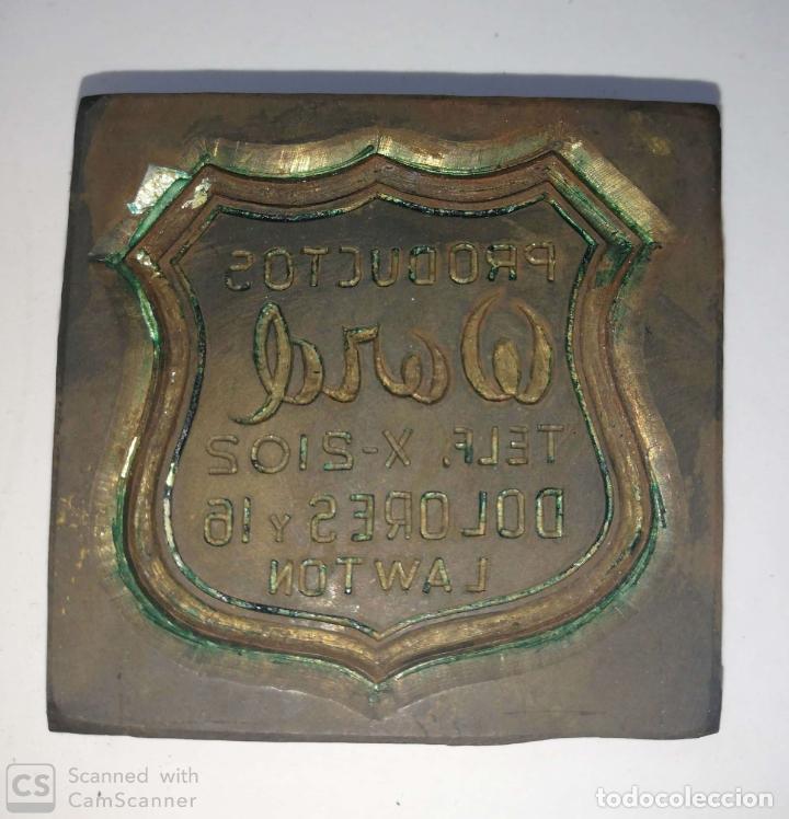 Antigüedades: CUBA. PRE REVOLUCION. SELLO DE BRONCE. PRODUCTOS WORD. MED : 4.5 X 3.5 CM APROX. - Foto 3 - 182567968