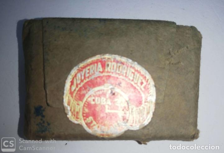 Antigüedades: CUBA. PRE REVOLUCION. SELLO DE BRONCE. JOYERIA RODRIGUEZ. MED : 5 X 3.5 CM APROX. - Foto 2 - 182568576