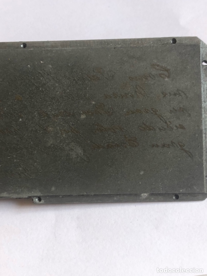 Antigüedades: Lote de tres placas metálicas, para imprenta o fotografías - Foto 9 - 182584595