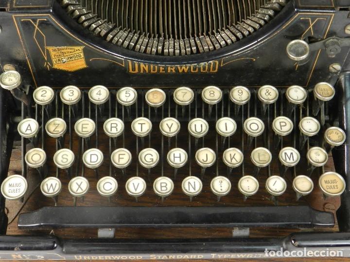 Antigüedades: MAQUINA DE ESCRIBIR UNDERWOOD Nº5 AÑO 1915 TYPEWRITER SCHREIBMASCHINE - Foto 6 - 182603403